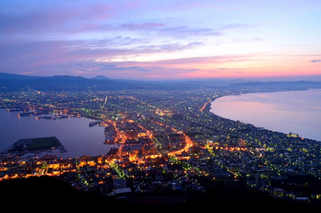 Hakodate at night time