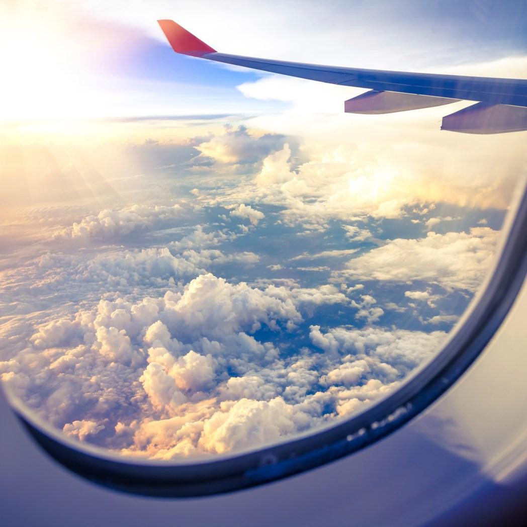 美加航線往返的飛機