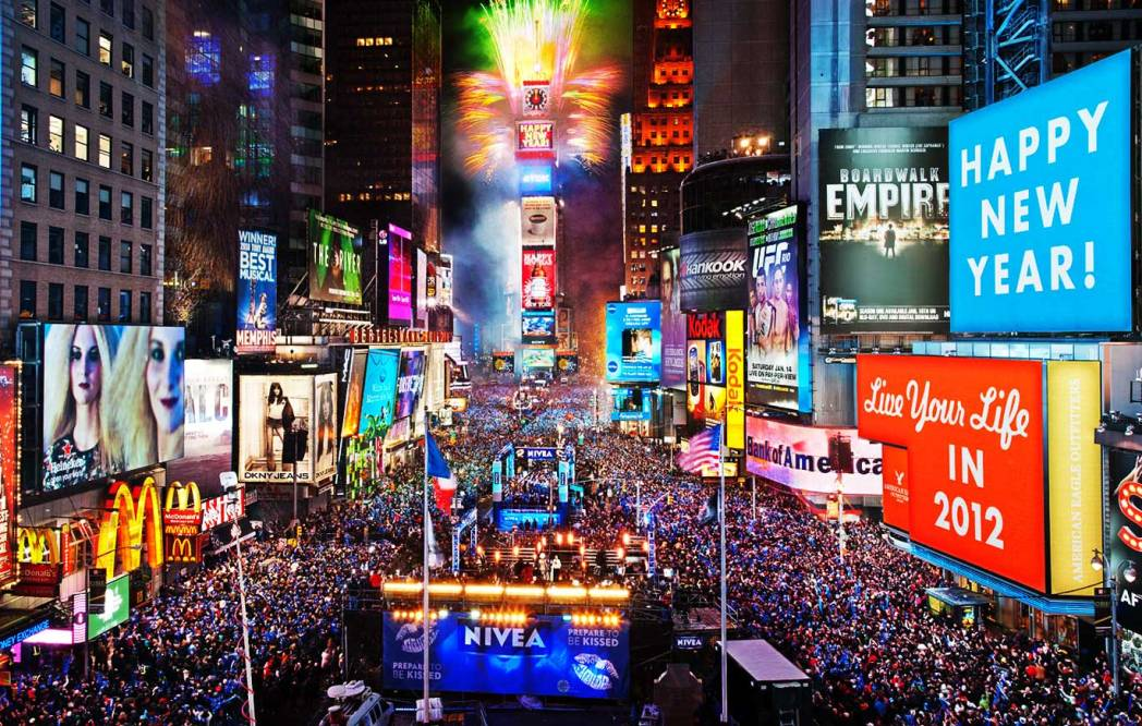 Time Square new year celebration