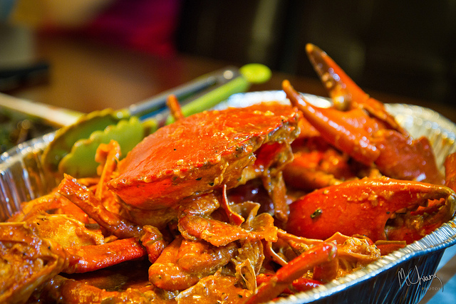 Spicy crab in Singapore