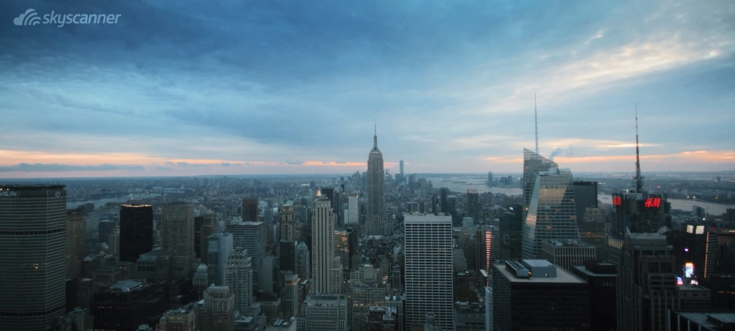 View of the Empire State Building and Midtown from the Top of the Rock - New York