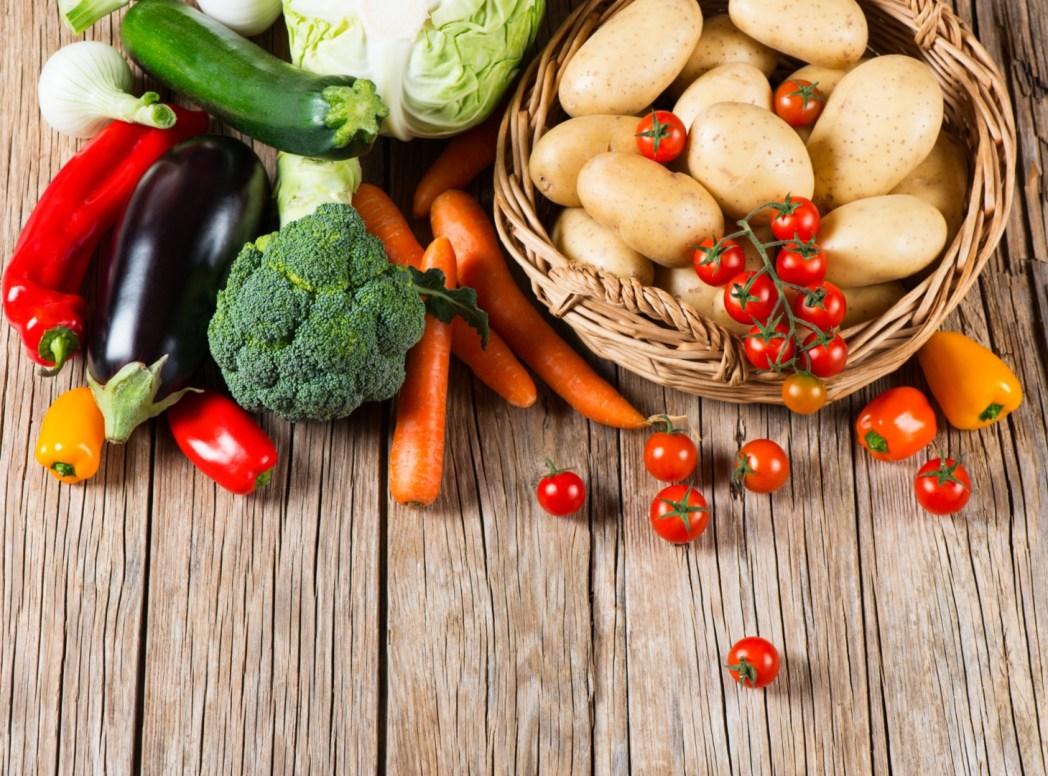 蔬菜和水果組合